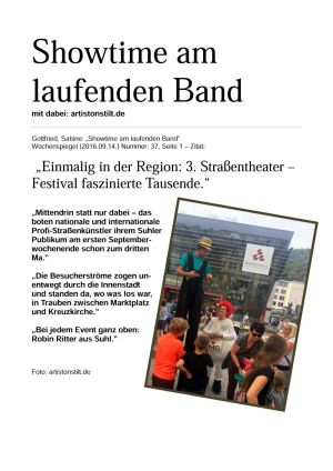 14.09.2016 Suhl | 3. Straßenfestival