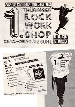 12. 1992 1. Thüringer Rock Work Shop