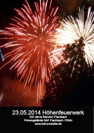23. Mai 2014 spektakul. Höhenfeuerwerk