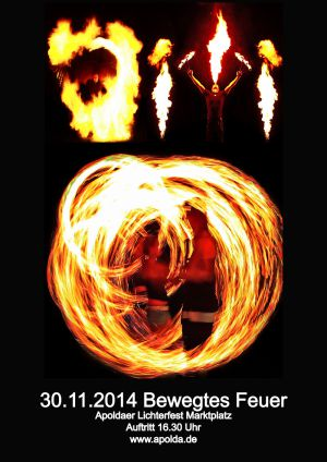 30. Nov. 2014 Bewegtes Feuer Ap. Lichterf.