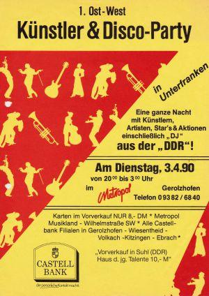 11. 1990 Eintritt in Ost-  Westmark