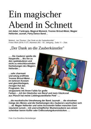 07.11.2016 Ehrenamtsgala LRA HBN in Schnett