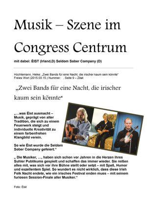 15.03.2015 Musik-Szene mit EIST & Seldom Sober