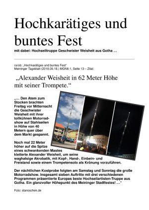 15.-17.06.2018 G.W. - Hütesfest Mgn.