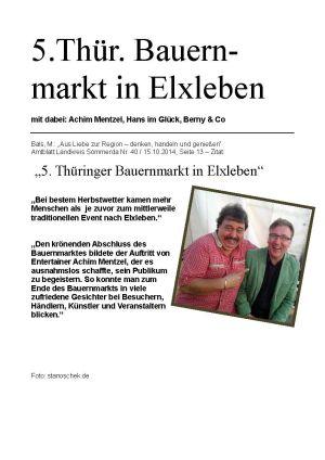 15.10.2014 Thüringer Bauernmarkt Elxleben