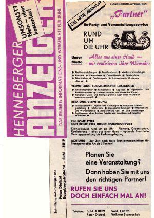 09. 1990 1. Anzeige