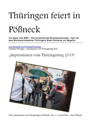 27.06.2015 Thüringen Tag in Pößneck