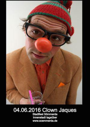 4.Juni 2016 Clown Jaques in Sömmerda