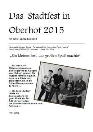 08.08.2015 Stadtfest Oberhof mit Epilog