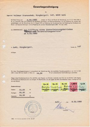 04. 09.02.1990 Gewerbegenehmigung
